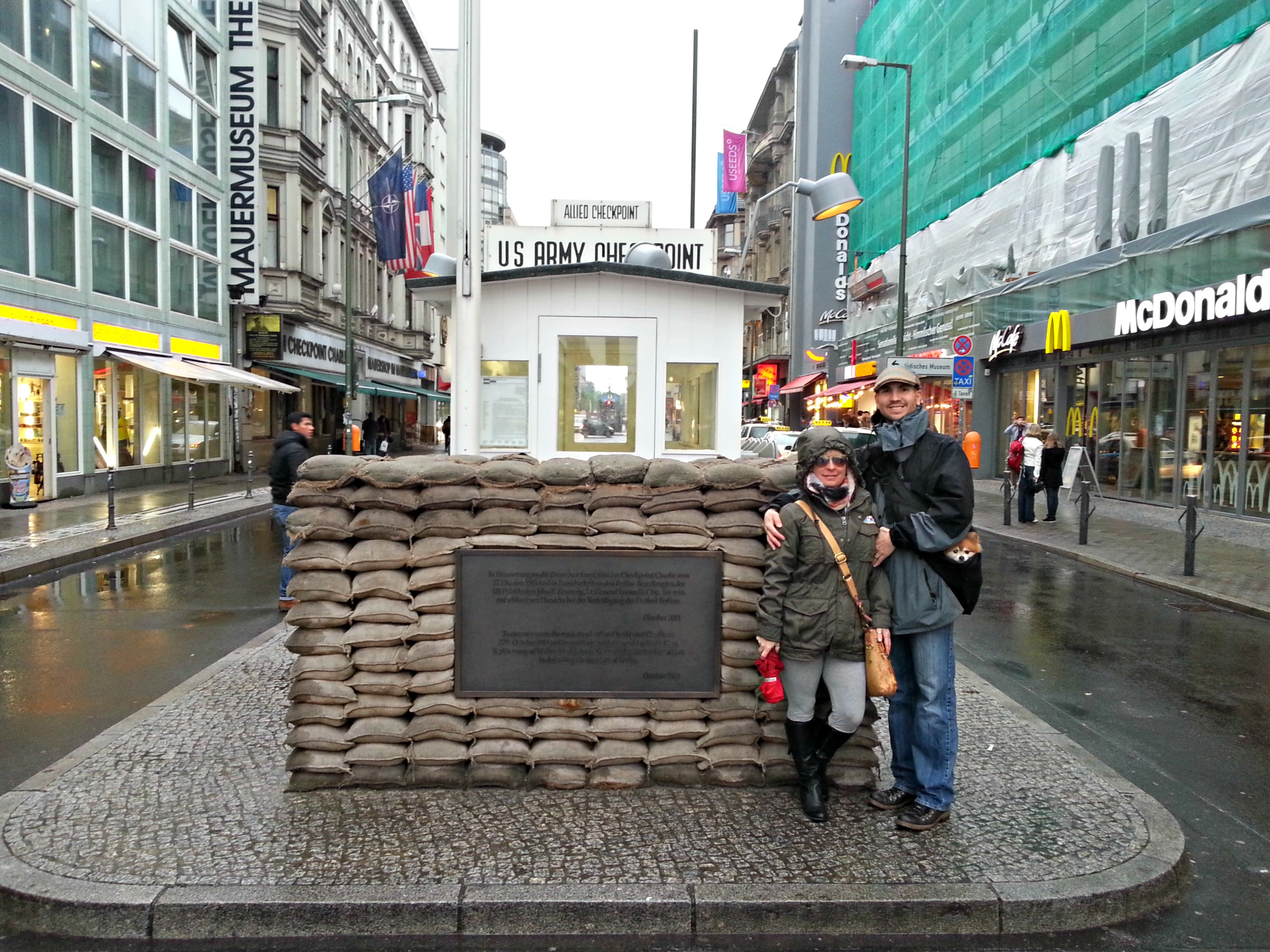 Germany Checkpoint Charlie Wes And Hope At Check Point Charlie