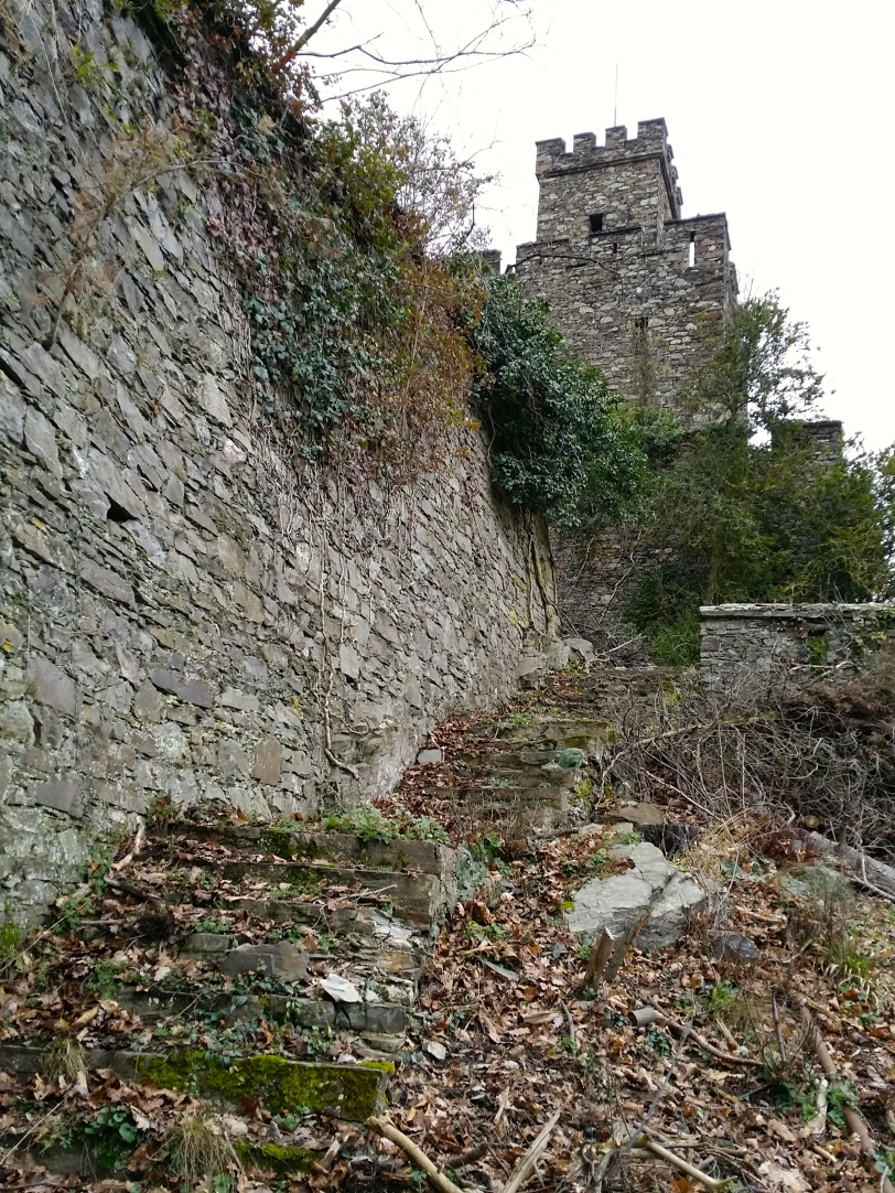 Steps and castle wall
